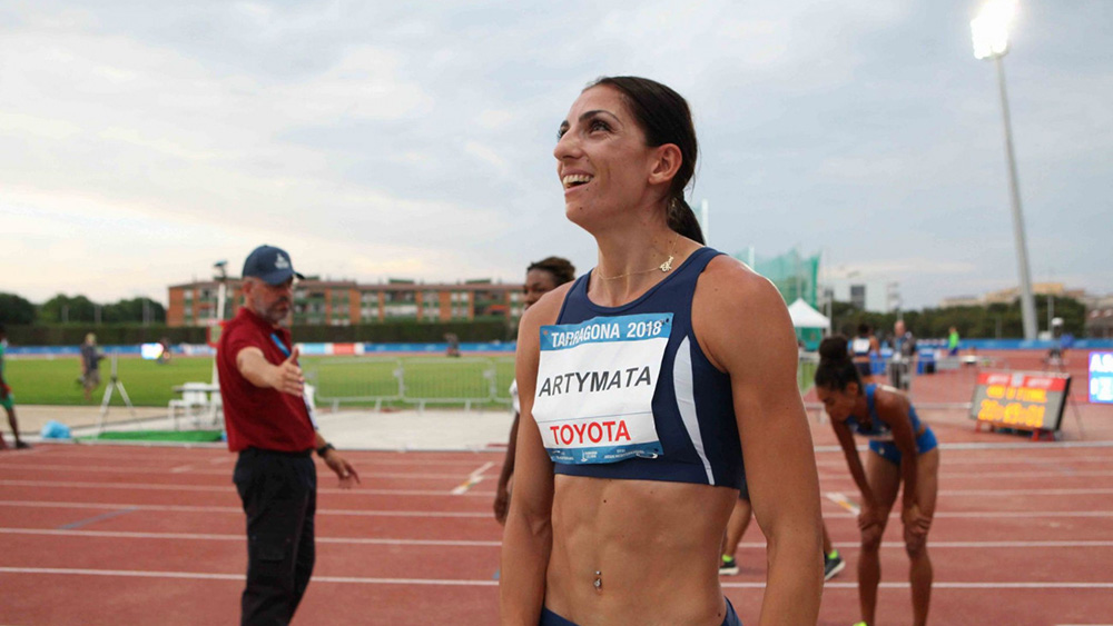Cypriot Eleni Artimata took the gold mediterranean games